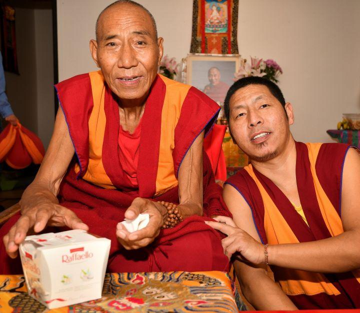 Geshe Gyaltsen and Geshe Yeshi Gawa